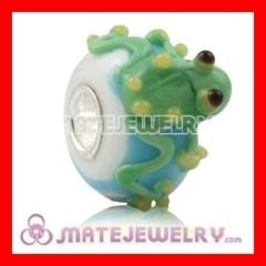 european glass frog beads