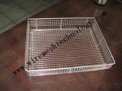 custom wire mesh cleaning basket