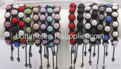shiny shamballa jewelry bracelet