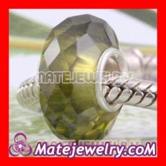 european faceted glass beads
