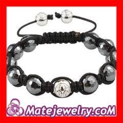 Shamballa Macrame hematite bracelets