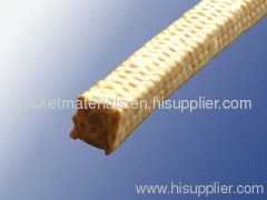 Aramid fiber braided packing