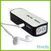 USB Hand Cranking FM Radio / Flashlight, led flashlights, dynamo flashlights