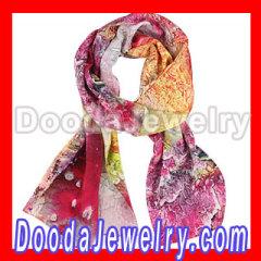 long oblong silk scarf