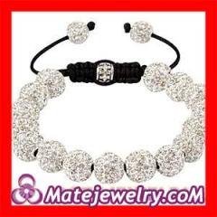 White Shamballa Nialaya Crystal Bracelets