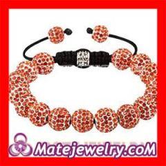 Orange Nialaya Shamballa Crystal Bracelets