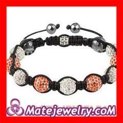 White&Red swarovski crystal shamballa bracelets