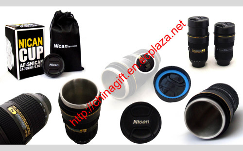 Nican Coffee Mug With Zoom 1:1 24-70mm Lens thermos Mug/cup (Third Generation)