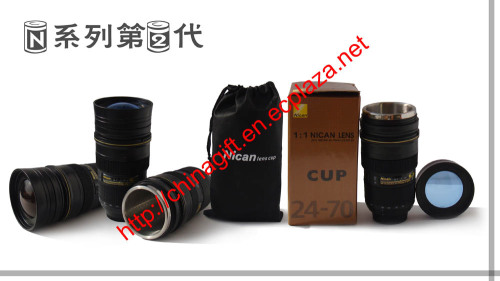 Nikcan Camera Lens Cup 1:1 24-70mm Lens thermos Mug/cup (2nd Generation)