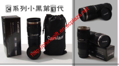 Caniam Coffee Mug Black 1:1 70-200mm Lens thermos Mug/cup (Black 3rd Generation)