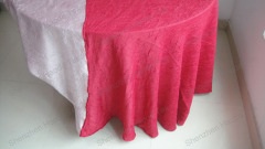 Crepe Table Cloth Crushed Table Cloth
