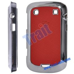 Electroplate Hard Shell Case Cover for Blackberry Bold 9900 9930(Red)
