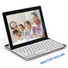 Aluminum Case Holder with wireless Bluetooth Keyboard iPad 2