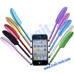 Feather Capacitive Screen Stylus Touch Pen for iPad 2 iPhone 4G 4S 3GS iPod (Blue)