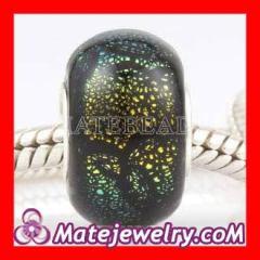 dichroic glass european beads