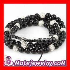 Black&White Crystal Shamballa Necklaces