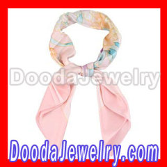 Hand Painted pink silk scarf