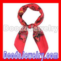 red silk head scarf