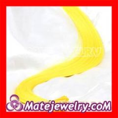 Yellow Synthetic Feather Hair Extensions Cheap wholesale