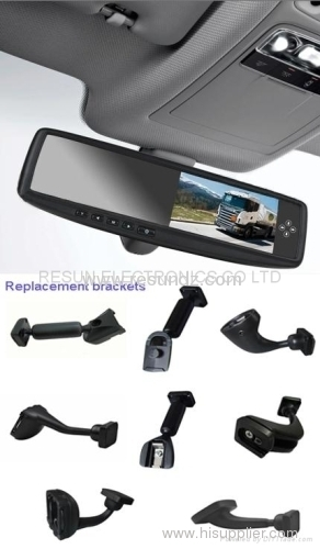 4.3 inch Car Rearview Mirror TFT LCD Monitor with 5-way Video Input for Camera and DVD