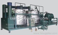 black waste engine oil refine machine