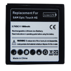 Standard battery for Samsung Epic Touch 4G with 3.7v 1800mAh