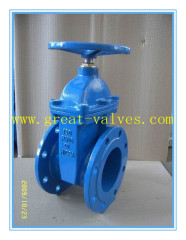 816-F (DIN) Ductile iron resilient seat NRS gate valve