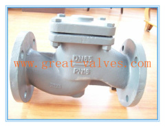 823-F (DIN) Check Valve Lift Type flanged ends