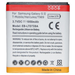 Battery for Samsung Galaxy S II /T-mobile/Hercules/T989 with 3.7v 1950mAh