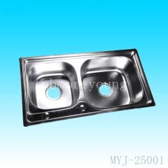 Stainless steel/undermount double bowl kitchen sink