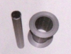 Aluminum bobbin for two for one twisting machine