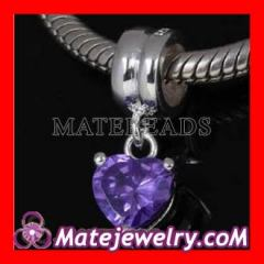 Silver european stone beads