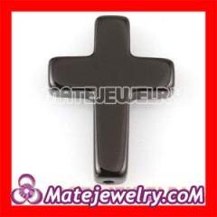 Black Agate Cross Beads wholesale