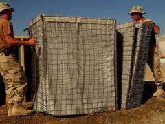 Galvanized Hesco Defense Wall