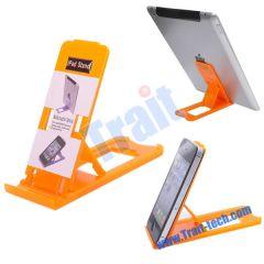 Desk Orange Plastic Adjustable Holder Stand for Apple iPad 2 iPhone 4/4S