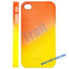 Orange and Yellow Cracked Plastic Protector Hard Case for iPhone 4