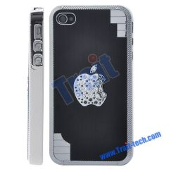 Aluminum Alloy Metal Drawing Hard Back Case for iPhone 4 (Black)