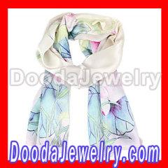silver silk scarf Designer