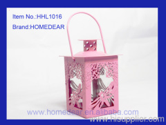 HHL1016 metal lantern with butterfly
