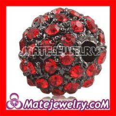 Red Shamballa Crystal Beads wholesale