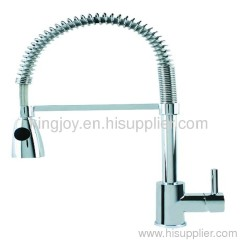 Single lever spring sink mixer kitchen foucet