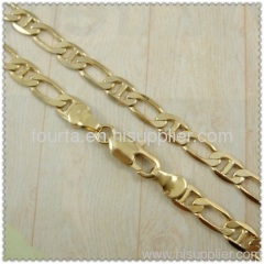 gold plated necklace FJ 1410115 IGP