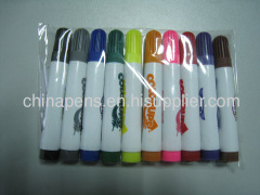 short children use water color marker in opp bag packing