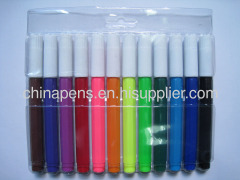 jumbo water color marker in pVC pouch packing