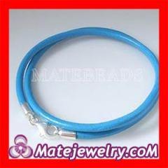 european blue leather necklace wholesale