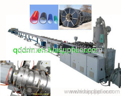 PE silicon-core pipe production line