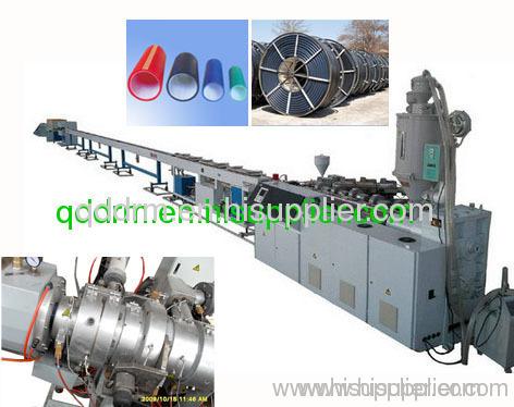 PE silicon-core pipe production line