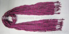 100% cotton woven scarf