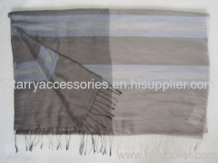 30% silk and 70% acrylic woven scarf