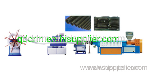 PE reinforced pipe production line/PE pipe extrusion machine